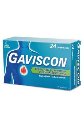 GAVISCON*24CPR MENTA 500+267MG